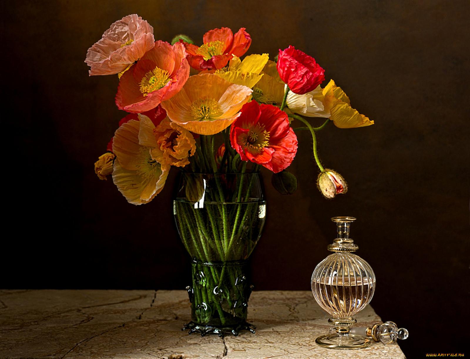 картинка три цветка в вазе больше, чем